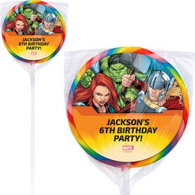 "Avengers Set 2 Personalized 3"" Lollipops (12 Pack)"