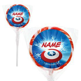 """Avenging Heroes Personalized 2"""" Lollipops (20 Pack)"""