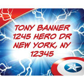 Avenging Heroes Personalized Address Labels (Sheet Of 15)