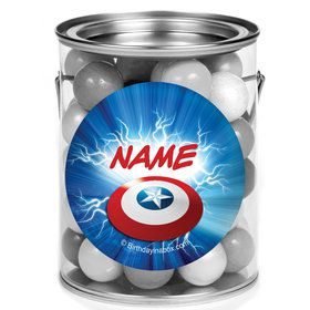 Avenging Heroes Personalized Mini Paint Cans (12 Count)