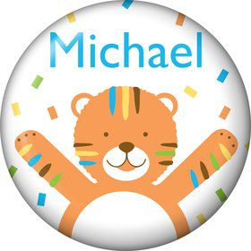 Baby Animals 1st Birthday Boy Personalized Mini Magnet (Each)