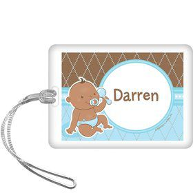 Baby Boy - African American Personalized Bag Tag (each)
