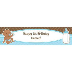 Baby Boy - African American Personalized Banner (Each)