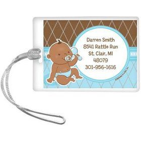 Baby Boy - African American Personalized Luggage Tag (each)