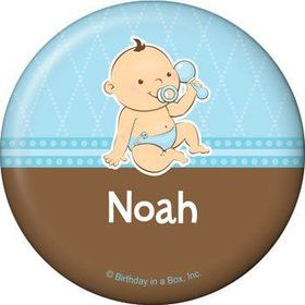 Baby Boy Personalized Button (each)
