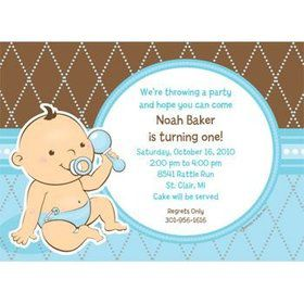 Baby Boy Personalized Invitation (each)