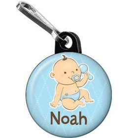 Baby Boy Personalized Mini Zipper Pull (each)