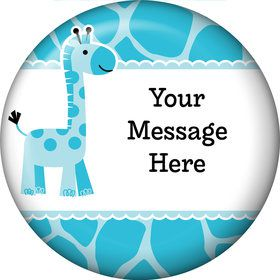 Baby Boy Safari Personalized Button (Each)