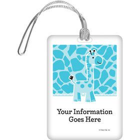 Baby Boy Safari Personalized Luggage Tag (Each)