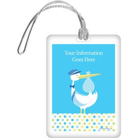 Baby Boy Stork Personalized Luggage Tag (Each)