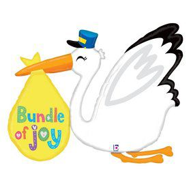 "Baby Bundle Stork 43"" Foil Balloon"