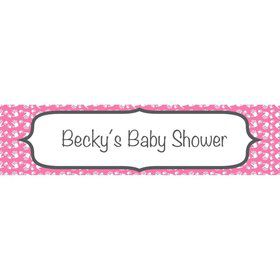 Baby Feet Pink Personalized Banner (Each)