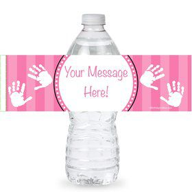 Baby Feet Pink Personalized Bottle Labels (Sheet of 4)