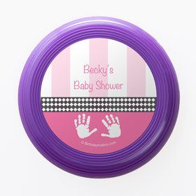 Baby Feet Pink Personalized Mini Discs (Set of 12)