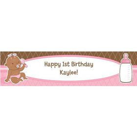 Baby Girl - African American Personalize Banner (Each)