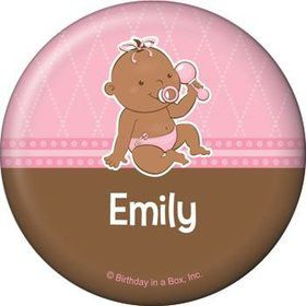 Baby Girl - African American Personalized Button (each)
