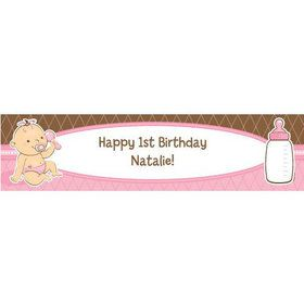 Baby Girl Personalized Banner (each)