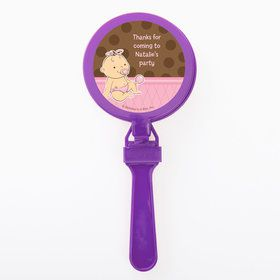 Baby Girl Personalized Clappers (Set of 12)