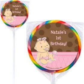 Baby Girl Personalized Lollipops (pack of 12)