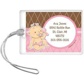 Baby Girl Personalized Luggage Tag (each)
