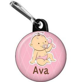 Baby Girl Personalized Mini Zipper Pull (each)