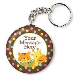 "Baby Jungle Personalized 2.25"" Key Chain (Each)"