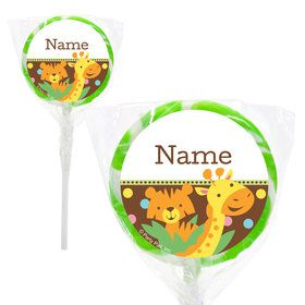 "Baby Jungle Personalized 2"" Lollipops (20 Pack)"