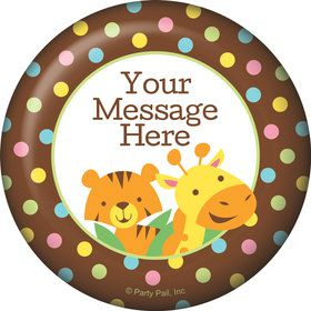 Baby Jungle Personalized Button (Each)