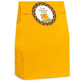 Baby Jungle Personalized Favor Bag (12 Pack)