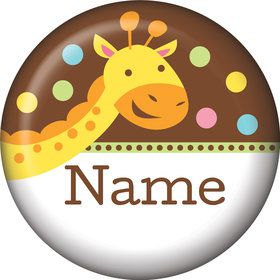 Baby Jungle Personalized Mini Button (Each)