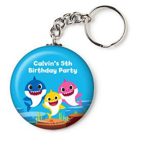 "Baby Shark Personalized 2.25"" Key Chain (Each)"