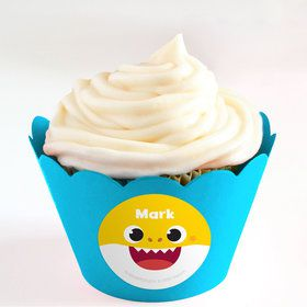 Baby Shark Personalized Cupcake Wrappers (Set of 24)
