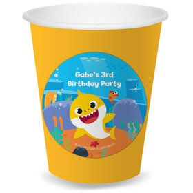 Baby Shark Personalized Cups (8)