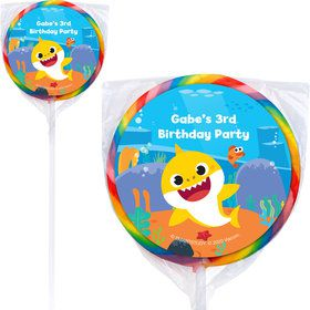 Baby Shark Personalized Lollipops (12)