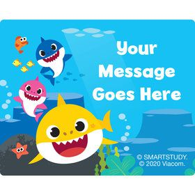 Baby Shark Personalized Rectangular Stickers (Sheet of 15)