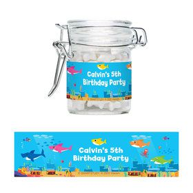 Baby Shark Personalized Swing Top Apothecary Jars (12 ct)