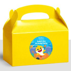 Baby Shark Personalized Treat Favor Boxes (12)