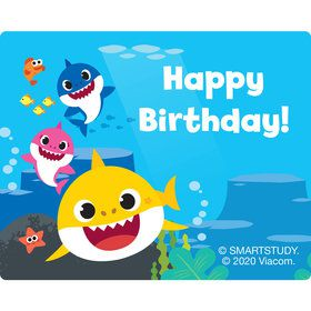 Baby Shark Rectangular Stickers (Sheet of 15)