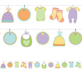 Baby Shower Autograph Garland