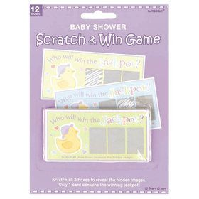 Baby Shower Scratch Off Game (Each)
