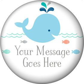 Baby Whale Blue Personalized Magnet (Each)