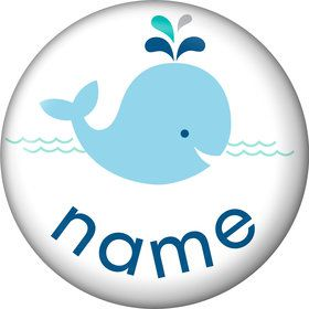 Baby Whale Blue Personalized Mini Magnet (Each)