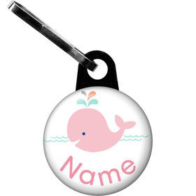 Baby Whale Pink Personalized Zipper Pull (Each)