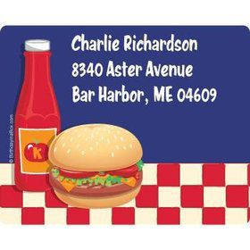 Backyard Bbq Personalized Address Labels (sheet of 15)