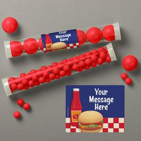 Backyard Bbq Personalized Candy Tubes (12 Count)