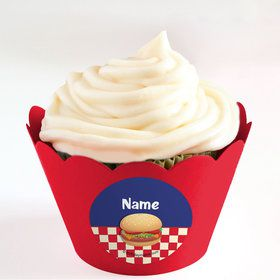 Backyard BBQ Personalized Cupcake Wrappers (Set of 24)