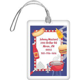 Backyard BBQ Personalized Luggage Tag (each)