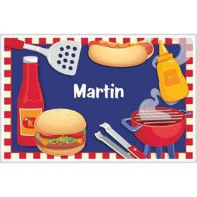 Backyard Bbq Personalized Placemat (each)