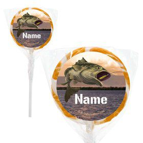 "Bait 'n Hook Personalized 2"" Lollipops (20 Pack)"