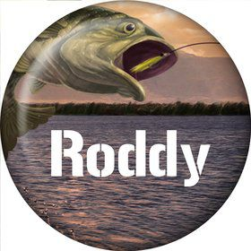 Bait 'N Hook Personalized Mini Magnet (Each)